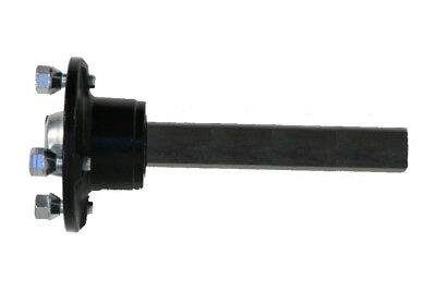1 paire Moyeu et demi-essieu pour remorque quad 100mm Entraxe 4 trous 35x35mm