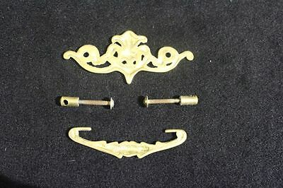 Complete Set of 6 Vintage Brass French Style Drawer Pulls 5