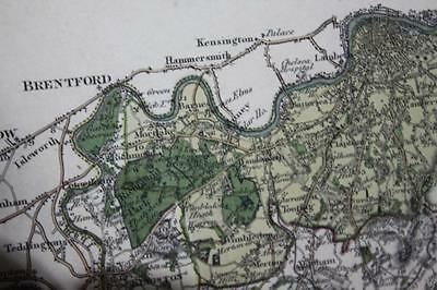 Antique Map of the County of Surrey 1822 & 1823, GREENWOOD & Co. 1829  [PL887] 4