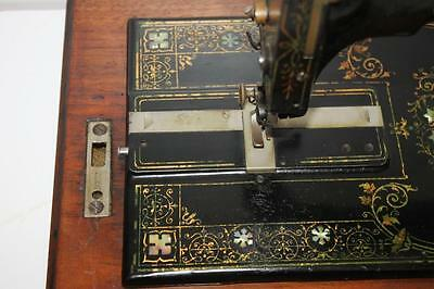 1870 ANTIQUE FRISTER & ROSSMANN Hand Crank Sewing Machine -FREE Postage [PL1587] 7