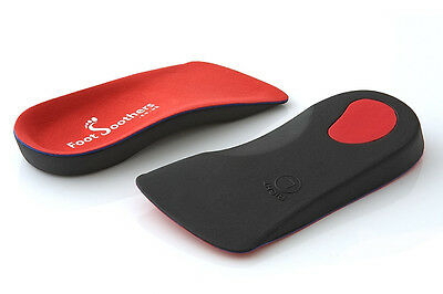 FootSoothers™ R3D 3/4 Orthotic Insoles Arch Support Inserts Fallen Arches Flat 4