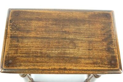 Antique English Carved Oak Joint Stool 19th C - FREE Shipping [PL4869] 3