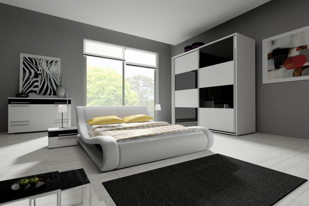 MODERNE KOMMODE HAVANA Schlafzimmer Wohnzimmer Highboard Schwarz Weiß  Hochglanz