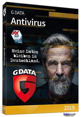 G Data Antivirus 2019 Vollversion 3 PC - 1 Jahr + Handbuch Download NEU 2