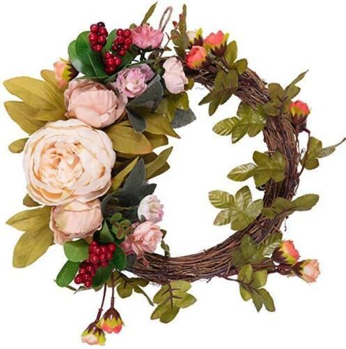 Natural Grapevine Rattan Wreath Wedding Door Hanging Twiggy Pretty Decor YMZ