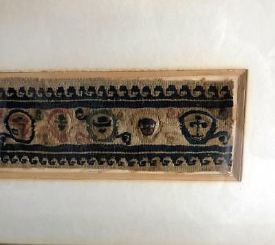 Framed Antique Coptic Textile 4