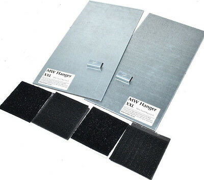 PANEL HANGING PLATED MW SELF ADHESIVE 200mm x 100mm PICTURE MIRROR HANGER TILES 3