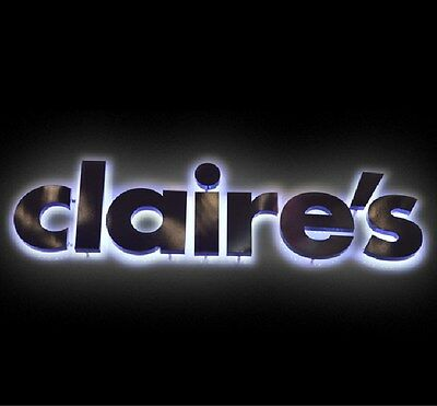 Customs outdoor backlit Channel Letter,made of Stainless Steel Sign,18inches