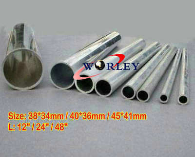 40mm OD X 36mm ID THICKNESS 2mm  6061 ALUMINUM TUBE PIPE ROUND L=48 inch