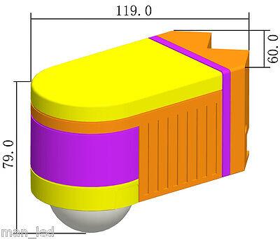 Black PIR 360° Motion Sensor Detector Outdoor NEW IP44 Certified 3 in 1 Mount