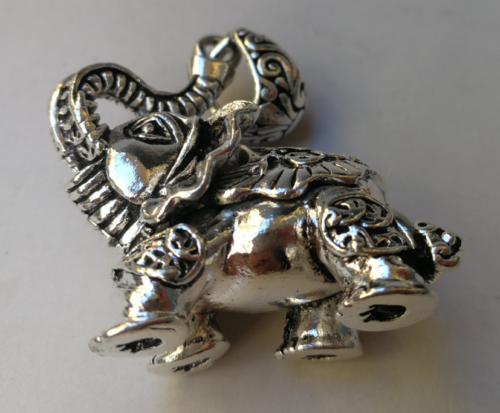 Rare China Tibet silver wealth elephant pendant 2