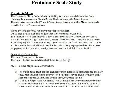 PDF E BOOK Lead Guitar Licks Lesson Pentatonic Scales Rock Blues Theory Tab