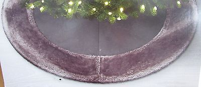 jaclyn smith 48 christmas tree skirt brown faux suede with fur trim