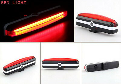 100 Lumens USB Rechargeable COB Bike Front Rear Lights LED Bicycle Riding Lamp 6