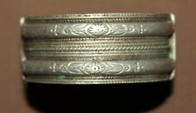 Antique Greek Folk Silver Woman Hinged Bracelet