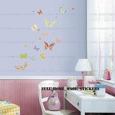 25 Beautiful Erflies Wall Stickers Art Decal Baby Nursery S Room Decor