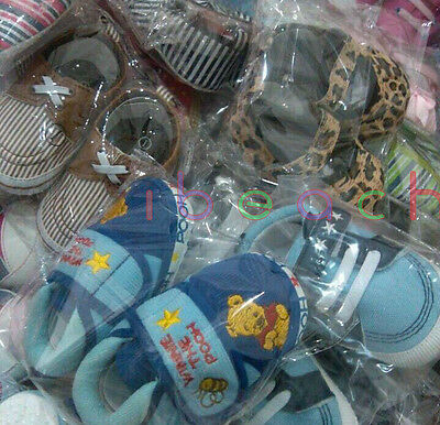 Wholesale Infant Baby Boy Girl First Crib Shoes Job Lots Newborn to 18 Months 6