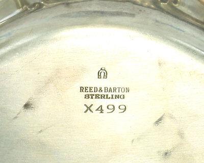 Vintage 1949 Reed & Barton Burgundy Sterling Silver Bon Bon Dish Bowl X499 4
