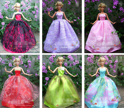 15 items=5* Fashion Handmade Party Dress/Clothes/Gown +10 shoes For 29cm Doll 2