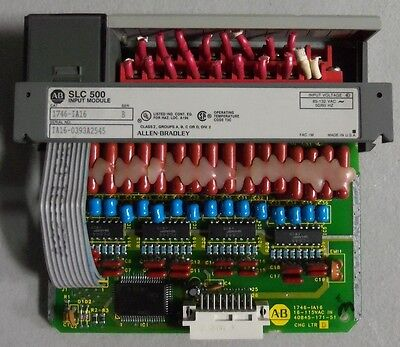Allen Bradley Slc 500 Input Module 1746-Ia16 Ser B Older Label *lot Of 2*