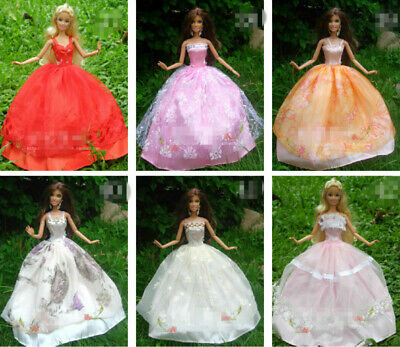 15 items=5* Fashion Handmade Party Dress/Clothes/Gown +10 shoes For 29cm Doll 3
