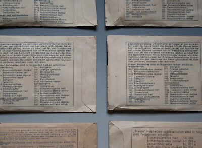 Konvolut 6 x Tüten Brauns Holzbeize wohl um 1960 3