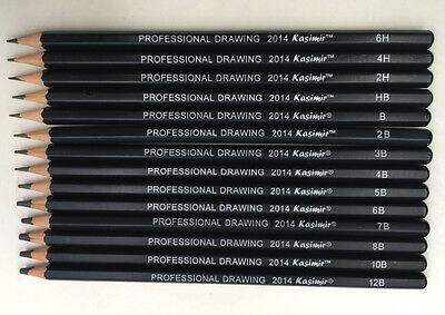 Kasimir Bleistiftset Zeichenbleistifte Bleistifte, 14er Set, 6H bis 12B 4
