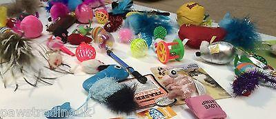 20 X  Bulk Buy Cat Kitten Toys Rod Fur Mice Bells Balls  Catnip BARGAIN JOB LOT 7
