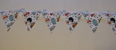 Super hero bunting ZAPP POW nursery bedroom playroom decoration garland handmade