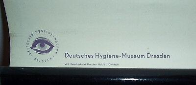 DDR Rollkarte Wandtafel  Das Blut Blutkörperchen Arzt Medizin vintage deko ! (47
