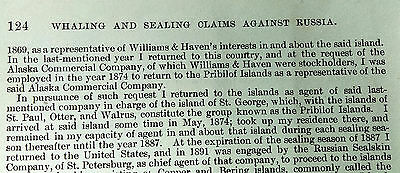 1903 U.S. Whaling and Sealings Claims Against Russia Map 4