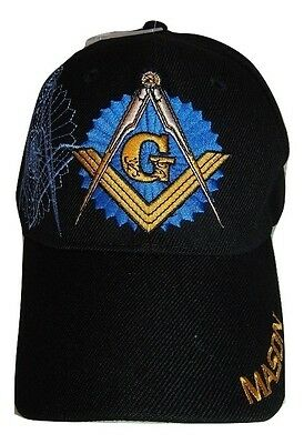 Black Mason Freemason Mason Lodge Blue Shadow Premium Quality Hat Ball Cap