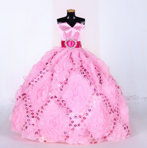 9PCS Barbie Doll Wedding Party Dress Princess Clothes Handmade Outfit for 12in. 2