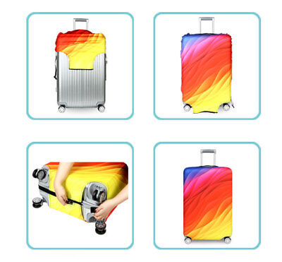 """Elastic Thick Suitcase Protective Cover Luggage Case Cover 18""""-32"""" Anti Scratch 2"""