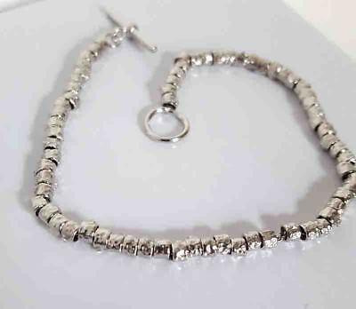 selezione premium 006e9 9e9b0 BRACCIALE ARGENTO 925 stile Dodo pepite granelli rodiato gioielli uomo donna