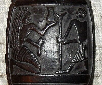 Egyptian Stone Carving. Rich with Symbolism. Mint Conditon. 12