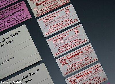 24 x Etiketten für Apotheken Flaschen aus SOEST um 1900-1960 5