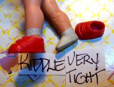Krissy Happy Family Kiddle Doll Clothes 2 Red Mini Shoes BOGO LOOK 10 Pics/READ 10