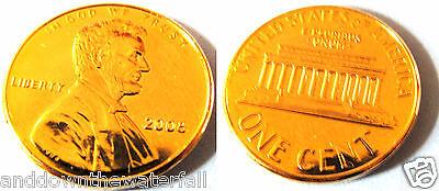 Gold USA Cent Lincoln Coin Penny America Washington Temple Old Unusual Unique US 4