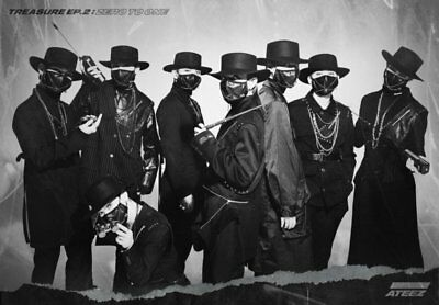 US SHIPPING Ateez-[Treasure EP.2:Zero To One]2nd Mini CD+Poster/On+Book+Card+etc 3