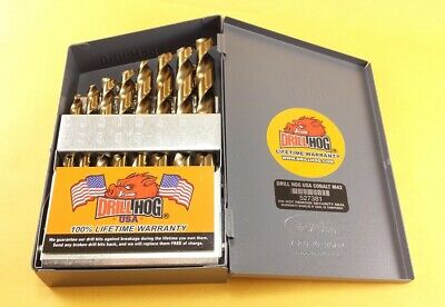 Drill Hog® 21 Pc COBALT M42 HSSCO Drill Bit Set Drill Index Lifetime Warranty 3