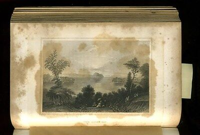 Antique Book 1851 KEEPSAKE of FRIENDSHIP 4 Oliver Pelton Engravings CHRISTMAS hb 7