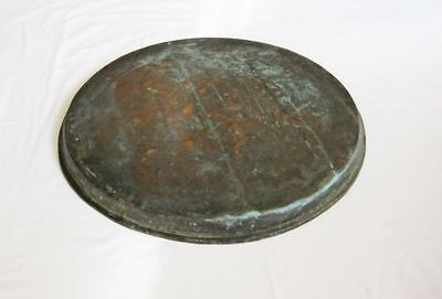 Antique big copper baking dish tray Ottoman Turkish hand hammered solid copper 3