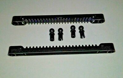 1x Rack and pinion steering Gear Rack 1x7 black//black 87761 NEW Lego technic