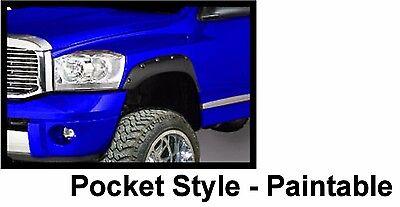 Fender Flares fits 02-08 Dodge Ram 15//2500//35 Bolt On Pocket Rivet Style 4pc Set
