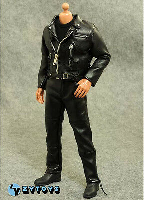 1//6 Leather Jacket Set For Negan T-800 Arnold Hot Toys Phicen Male Figure ❶USA❶