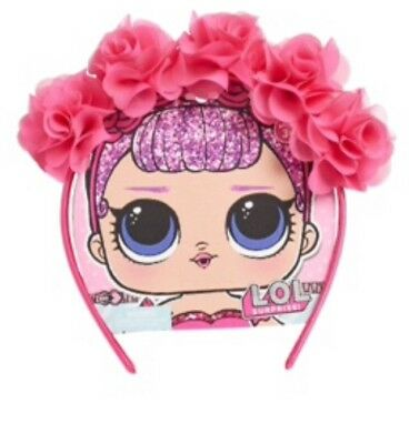 LOL Surprise Pink Rocker /& Diva Hair Bow Clip Printed Satin Headpiece Accessory