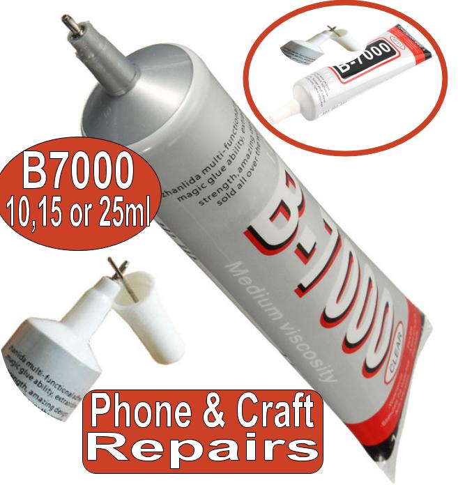 Phone Glue Adhesive Industrial Strength B7000 10ml/25ml Rhinestones Gems Craft 4