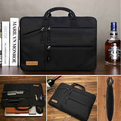 Shockproof 13 14 15.6'' Laptop Sleeve w/4 zipper Pocket&Handle Notebook Bag Case 10