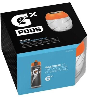 Gatorade GX Pods -Glacier Freeze Blue One 4 Pack IN STOCK Fast ship w/ tracking! 7